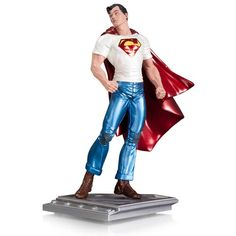 Shop for DC Collectibles The Man of Steel Superman Action Figure by Rags Morales Statue and search for lots more superhero and sci-fi merchandise, collectibles, toys, and more. First Superman, Superman News, Superman Stuff, Superman Cape, Comic Book Superheroes, Comic Book Heroes, Superman Action Figure, Action Figures, Dc Comics