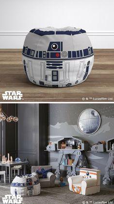 Cute R2-D2 bean bag. Would make an awesome Star Wars padavan room decor. #starwars #geek #r2d2 #homedecor #commissionlink