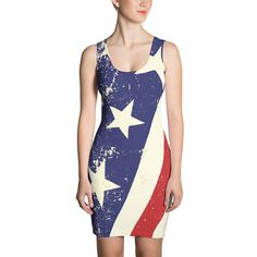 American Flag Dress. Sizes XS-XL. Great for Memorial day or