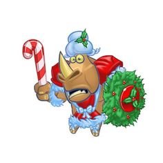 Hank the Rhino in special seasonal gear!