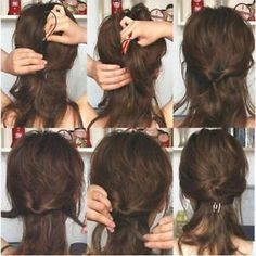 Easy step to do and get a cute hair style !