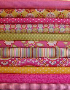 pink and yellow Kumari Garden + coordinating fabric Yellow Fabric, Floral Fabric, Pink Yellow, Purple, Textures Patterns, Fabric Patterns, Textiles, Coordinating Fabrics, Fabulous Fabrics