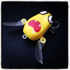 ARUAVITFY Keroppa! ゼンマイ玩具。(笑) パワーパックのイメージで水に浮かべると頼りなさげ。(苦笑) 吉ど出るか凶と出るか。 #fishing #bassfishing #lure #topwater