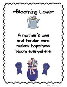A Freebie From May/June Poems And Songs Which Has A Total Of 25 Poems. Poems  For Mothers DayPoem ...