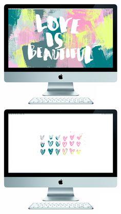 free 'love is beautiful' desktop wallpapers
