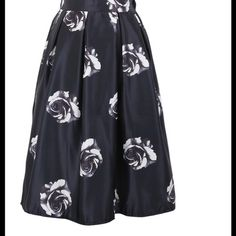 """NWT Black Rose Skirt Length is 25"""", waist stretches up to 15"""" flat. Best fits sizes 2-6. NWT. Skirts A-Line or Full"""