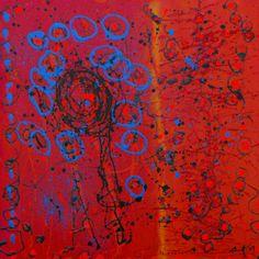 "Celestte ""The Gathering"" Original Acrylic on Canvas  24 x 24"