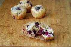 blackberry barley muffins recipe: blackberries, barley flour, egg replacement [ground flaxseed + water], nondairy milk, citrus juice and zest No Dairy Recipes, Flour Recipes, Cooking Recipes, Muffin Recipes, Breakfast Recipes, Blackberry Muffin, Egg Replacement, Barley Flour, Citrus Juice