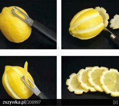 Flower lemons for martinis