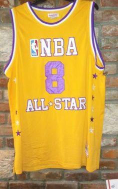 5a8005d68 Kobe Bryant NBA ALL STARS LA Lakers Home Mitchell and Ness 2000 Jersey sz 60