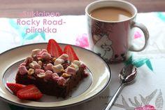 Mustikkasuu: Suklainen Rocky Road-piirakka