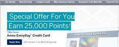 25,000 Point Bonus (Up From 10k) - American Express EveryDay Credit Card (Amex) - http://therewardboss.com/2015/09/11/25000-bonus-10k-american-express-everyday/