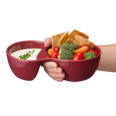 OOMA BOWL   Colorful Dipping Bowls, Compartments, Handheld   UncommonGoods... possible gift idea?