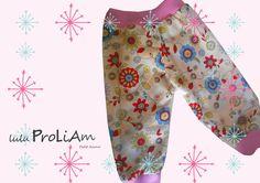 Pantalon ample en tissu Fleuri 6/9mois : Mode Bébé par lulu-proliam