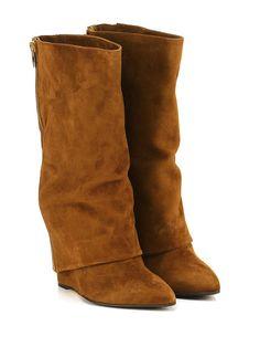 THE SELLER - Stivali - Donna - Stivale in camoscio con doppia zip su retro e…