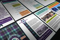 AYRSHIRE BANNERS. Printed out Banners for the 60th Anniversary celebrations for Enable Scotland Ayrshire Branch from 1954 - 2014.