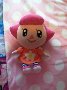 My Animal Crossing Wild World Pink Female Villager plushie made by Tomy in 2007!