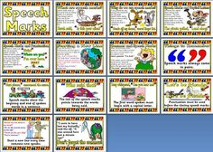 KS2 Literacy Resource - Speech Marks Printable Posters from Instant Display