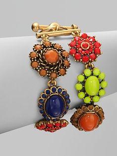 oscar de la renta colorful bracelet
