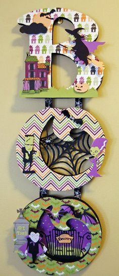 BOO Halloween decor with cricut ... use as Halloween card design?