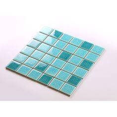 Crackle Glass Tile with Porcelain Base Swimming Pool Tiles Flooring Kitchen Backsplash Wall Mosaic DBL004