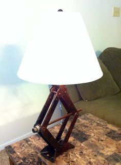 Industrial lamp modern lighting steam punk car jack barn on Etsy, $99.95