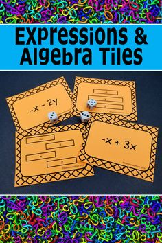 Great activities to engage your students with algebra expressions.  Students practice simplifying expressions, adding expressions, subtracting expressions, and multiplying expressions.  So fun!  Click for more information.