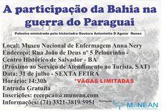 Blog do Rio Vermelho, a voz do bairro: Palestra gratuita - A participação da Bahia na gue...