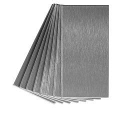 Aspect A52-50 Peel and Stick Backsplash Long Grain Metal Tile for Kitchen and Bathrooms, 3' x 6', Brushed Stainless * Check this awesome product by going to the link at the image.