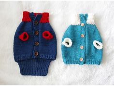 """This cute doggy clothing was designed for my knitting tutorial web-comic """"Shuei's knitting note -season 2"""""""