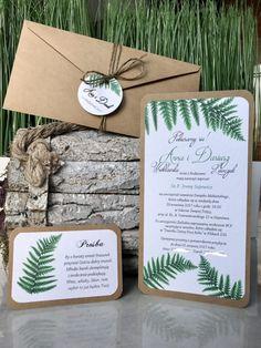 Zaproszenie Paproć Eco - Ribbon Place Cards, Place Card Holders, Ribe