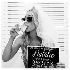 PRINTABLE Bachelorette Party Mugshot Signs. Customized with