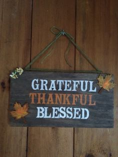 Thanksgiving rustic sign finished