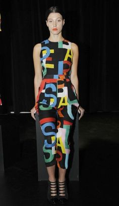 Tata Naka cited the Ballets Russes' alphabet prints as a source of the brand's S/S '14 print inspiration