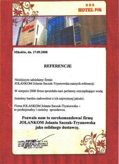 Referencja od firmy Hotel PIK