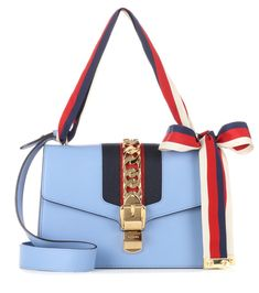 0eee438c1 Gucci - Sylvie leather shoulder bag - Crafted in Italy from smooth baby  blue leather