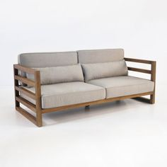 A deep seat sofa from our Manhattan reclaimed teak deep seating collection is a contemporary piece made of sustainable, high quality reclaimed teak wood.