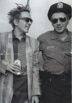 Johnny Rotten and friend.