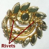 identifying juliana jewelry | Mr. De Lizza refers to these as eyelets. While many manufacturers used ...