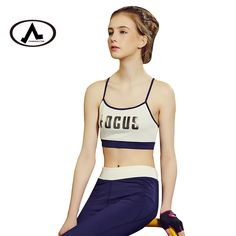 4af315808e83 US $17.99 |Aliexpress.com : Buy 2017 New Women Letter Seamless Adjustable  Shoulder Strap Sports Bras Stretch Workout Fitness Bras from Reliable sport  ...