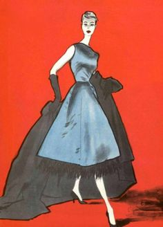 Rene Gruau pour Balenciaga, 1955
