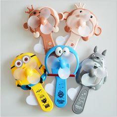 Children Toys Portable Manual Hand Mini Fan Handheld No