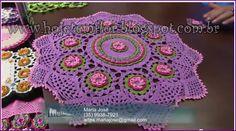 Hoje tem Flor !!!: Centro de mesa ( Toalhinha em crochê ) com gráfico... Beautiful crochet floral doily!