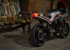 SKON — Evening manoeuvres over at our place in. Cafe Racer Moto, Cafe Racing, Cafe Racer Bikes, Custom Motorcycles, Custom Bikes, Moto Car, Honda Bikes, Ducati Scrambler, Retro Waves