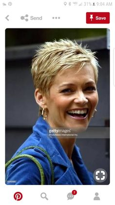 Jessica Rowe talks to reporters on June 2008 in Sydney,. Jessica Rowe talks to reporters on June 2008 in Sydney,. News Photo : Jessica Rowe talks to reporters on June Short Spiky Hairstyles, Girls Short Haircuts, Short Hairstyles For Women, Teenage Hairstyles, School Hairstyles, Short Grey Hair, Very Short Hair, Short Hair Cuts For Women Over 50, Short Choppy Hair