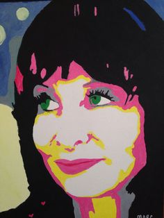 Local Magnolia artist makes pop art version of Gina's pic. Love it.