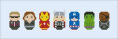 The Avengers parody Cross stitch PDF pattern by cloudsfactory