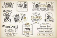 10 Vintage Victorian Badges by Steinborn Design Co. on @creativemarket