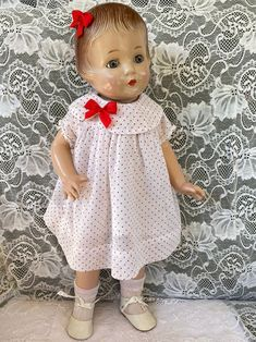 Vintage 1920s Dimity Dress in sweet polka dots and   Etsy Rock A Bye Baby, 1920s, Polka Dots, Flower Girl Dresses, Bows, Wedding Dresses, Sweet, Vintage, Etsy