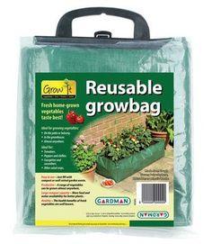 Gardman 7500 39-Inch by 16-Inch by 9-Inch Green Reusable Patio Grow Bag by Gardman. $10.07. Capacity 95-Quart of compost. Tough heavy duty polypropylene. Reusable. Bigger nutrient and water reservoir. Patio grow bag. Gardman usa 7500 39-inch by 16-inch by 9-inch green reusable patio grow bag